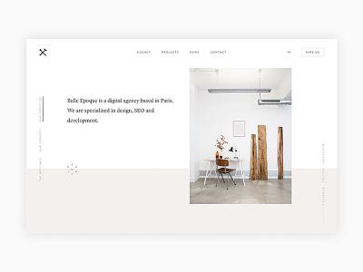 Belle Epoque Agency page - new website websitedesign webdevelopement webdesign webagency ux ui typography portfolio mobile minimal design clean