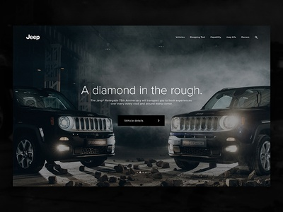 Jeep Renegade automotive fca jeep cars landing page interface interaction homepage digital design architecture