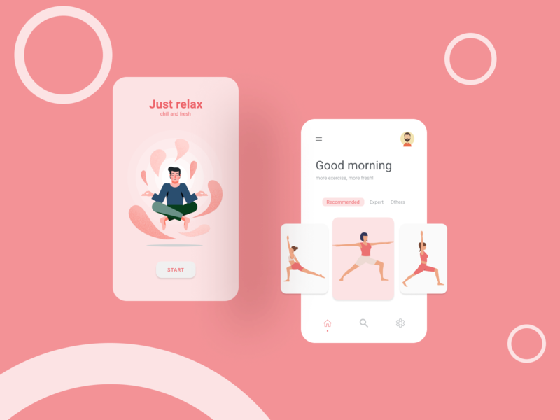 Meditation App ui design chill relax meditation