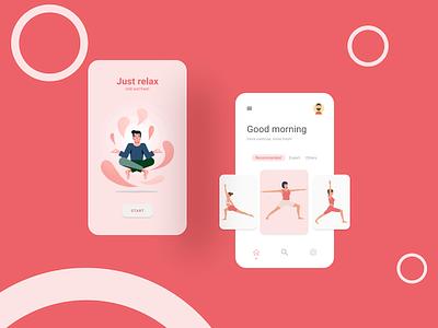 Meditation App ui design chill relax meditation