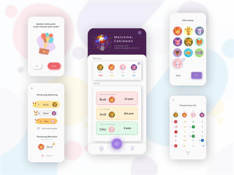 Ceki App Redesign redesign app redesign gambling app game app ceki mobile app design mobile design ui design