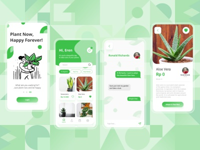 Nandurway - Adopt and Share Plant App shop plant adopt plant planter plant illustration planting plants share plant plant ui design