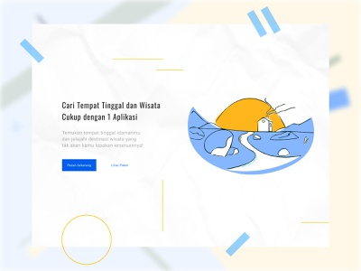 StayTour Landing Page web design travel app landing page tour app stay app