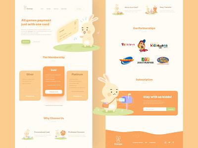 Bunnygo - Games Payment Website ui game card payment rabbit bunny games