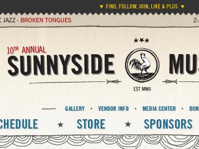 Sunnyside Music Fest web design ui design ux design