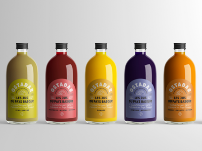 Ostadar Juices graphicdesign fruitjuice packaging labeldesign
