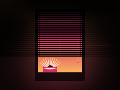 🚬🌆 Room with a View 🌆🚬 vector palette illustrator simple space gradient spot illustration literature book rest and relaxation geometric illustration illustration design challenge 100daychallenge geometric window lighting shape