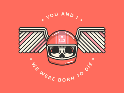 🛵 Born to Die 🛵 lana del rey vector illustration skull art sticker valentinesday motorbike badge cherub wings skull logo valentine love helmet motorcycle helmet motorcycle skull lyrics born to die