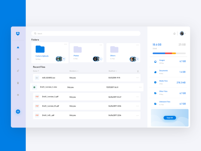 First Shot-Dropbox Redesign