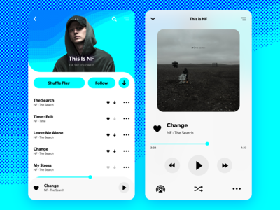 Daily UI Challenge—Music Player