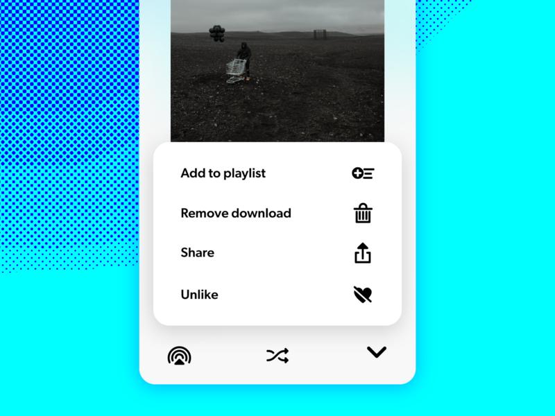 Daily UI Challenge—Share Menu music spotify interface app illustrator xd vector uiux daily ui dailyui