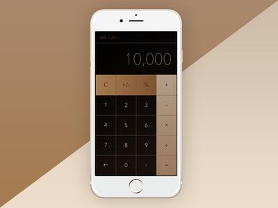 Daily UI 004 - Calculator rose gold ui dailyui calculator