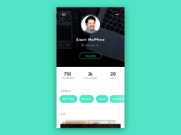 DailyUI 006 - Profile Page
