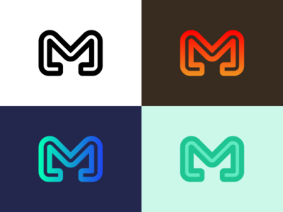 M Logos m branding mark logo