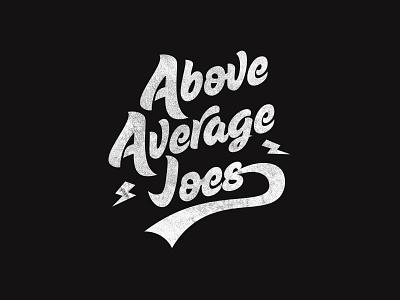 Above Average Joes lettering