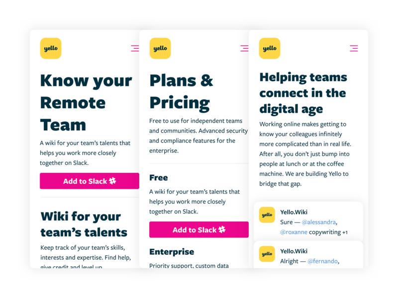 Slack App Mobile Site design design system teamwork teams slack mobile landing hr chatbot bot