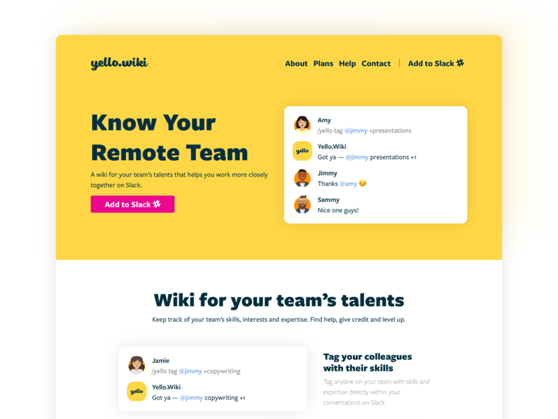 Slack App Landing Page design system teamwork teams slack landing hr chatbot bot