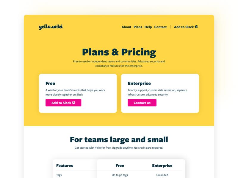 Slack App Subscription Plans by Piotr Bakker on Dribbble