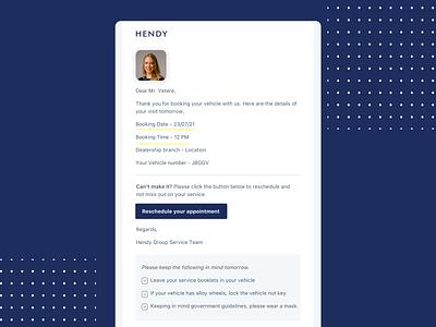 Emailer UX copywriting uxwriting reschedule email ui