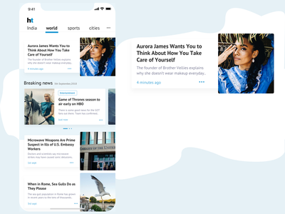 Newsfeed app in cards form sketch design news app iphone hindustan times ht iphone x iphonex newsfeed news app ui