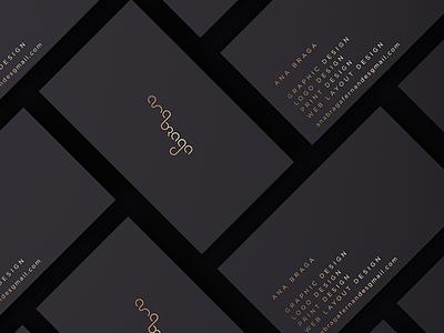 anabraga business cards behance 808x632