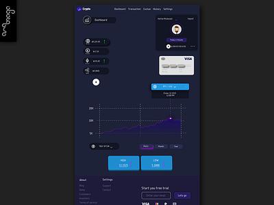 Dashboard Page Crypto Site vector web flat ui uidesign illustration graphicdesign designart branding design
