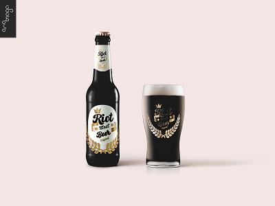 Riot Beer packaging design packaging vector typography illustration designart branding graphicdesign design