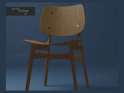 3D Chair Wood designart modeling vector web blender blender3d 3d art 3d design
