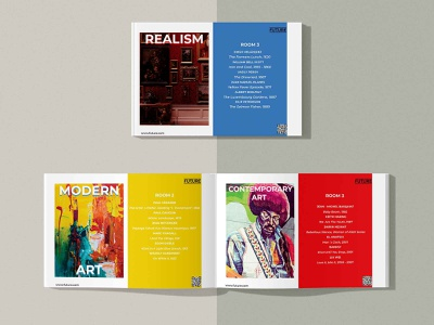 Museum Guide. Print Layout Design typography vector layout illustration designart graphicdesign design print