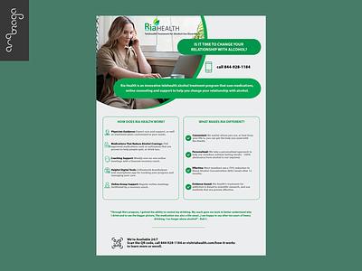 Brochure Ria Health flyer printdesign brochure print branding graphic design