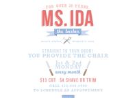 Ms. Ida The Barber Flyer