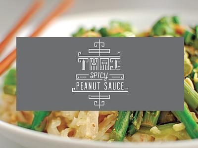 Thai Peanut Sauce Label thai peanut custom typography asian inline