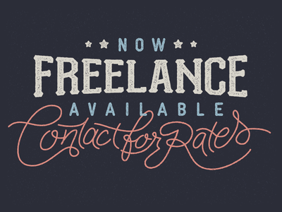 Freelance Ain't Free texture monoweight script stamp stars and stripes freelance