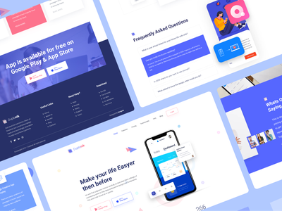 Duplonik - App Landing Page Exploration V2 illustration ui design uidesign saas website saas landing page saas landingpage app landing app landing page website design agency website agency landing page website landing page ui landing page design landing page 2019 trends