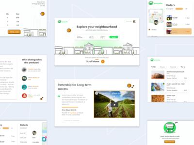 Local trade online web desktop review connect online shop explore covid farmer app market local trade