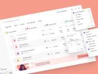 Dashboard campaigns product branding illustration web metric folder filter campaign ui design figma minimal minimalistic design ux ui dashboard
