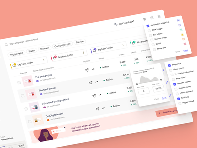 Dashboard campaigns product branding illustration web metric folder filter campaign ui design figma minimal minimalistic design ux ui dashboard