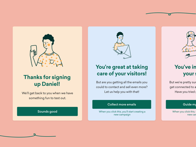 Dialogs for stuff modal box modal scribble illustration dashboad sleeknote minimal figma ux design branding ui