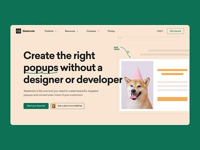 Homepage 2020 web animal hero section ux motion animation popup design popup design figma website ui branding