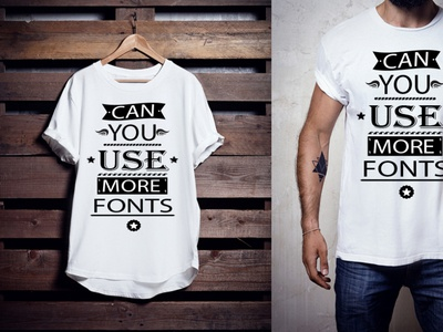 Can you use more fonts tshirt design