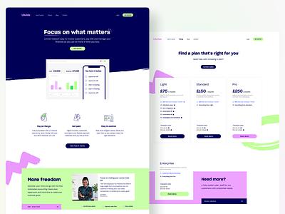 Likvido's website software landing page graphic design web design design ui saas landing page landing page saas website fintech website website design