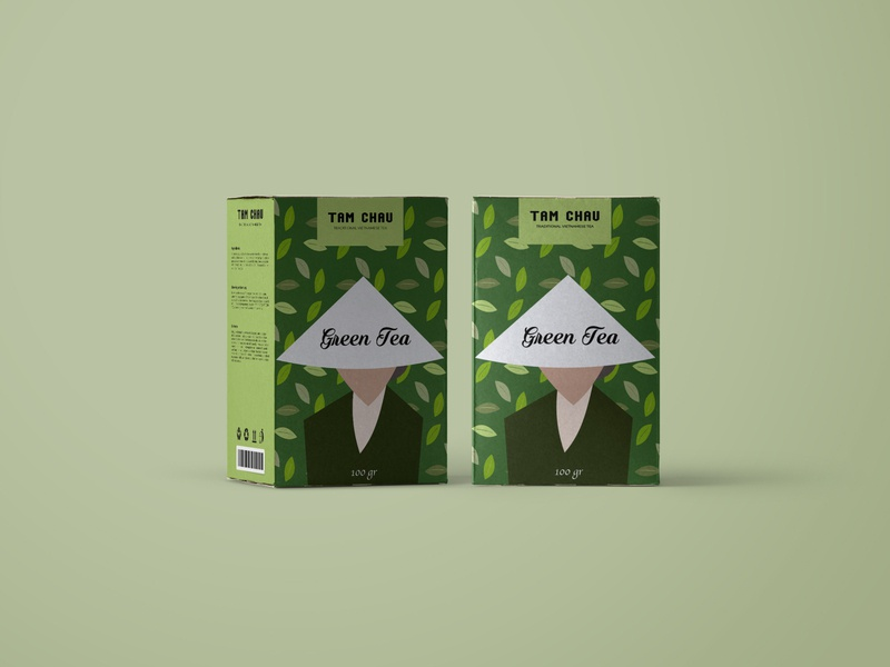 Concept packaging design for Tam Chau tea brand