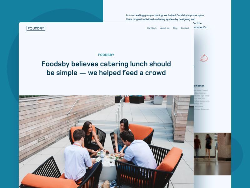 Foundry Website product design website agency website case study agency