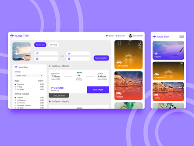 Air Ticket Booking Web App app concept minimal travel web design branding logo ux ui app