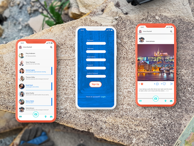 UI Design Concept for a Photo Sharing App app design app concept travel app app travel user experience design userinterface user ui  ux adobe illustrator adobe