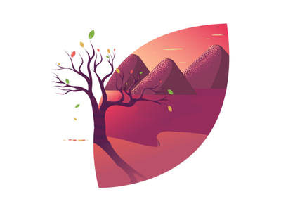 Fall Season Illustration cute flat nature illustrator adobe daily design vector illustration leaves autumn autumn leaves fall