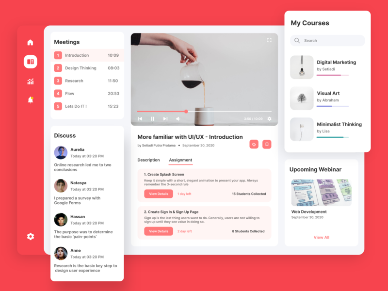 Online Course App clean elegant iconic minimalism minimalist funny charismatic art pages cool page flat minimal ui typography illustration ux branding app web design