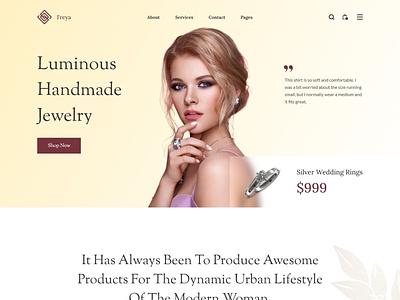 Freya - Jewelry & Watch Website app 2021 uidesign diamond watch popular trends branding ui clean web minimal design jewelry