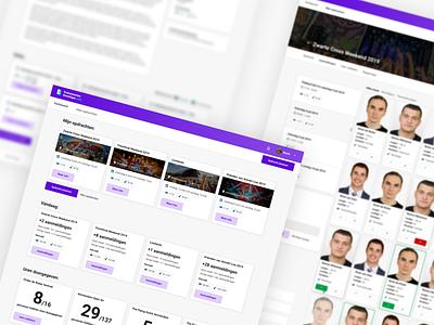 Event security platform gradient purple cards event supervisor security web application web app app design app sketch user interface web design user experience ux interface ui website webdesign design