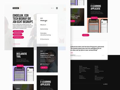 Programic website redesign case study development digital agency portfolio agency sketch redesign user interface user experience web design ux interface website ui webdesign design